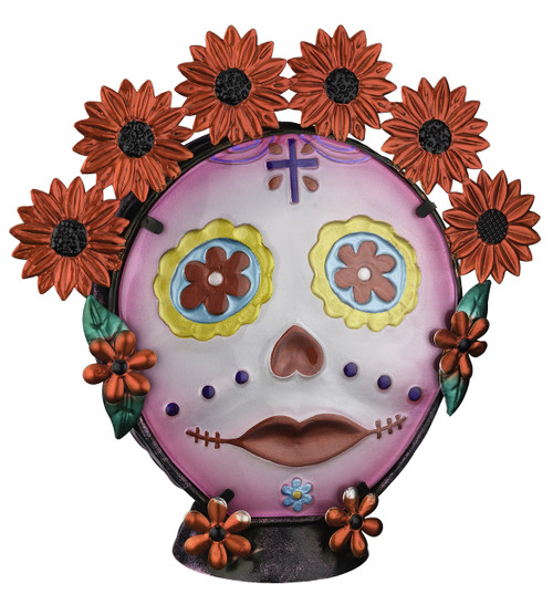 Day of the Dead Woman Sugar Skull Female Electric Night Lamp Regal Art and Gift