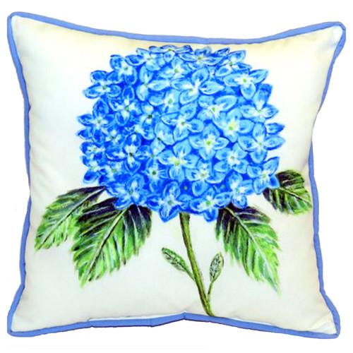 Dicks Big Blue Hydrangea Accent Throw Pillow Indoor Outdoor 18 X 18 Inches