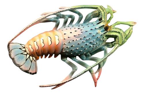 10 Inch Florida Lobster Beach Tiki Bar Bath Child's Room Wall Plaque Decor Blue