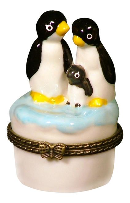 Arctic Baby Penguin Penguins Family Trinket Box phb