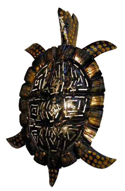 Tropical Antiqued Sea Turtle Tiki Wall Sconce Decor