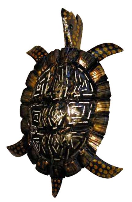 Tropical Antiqued Sea Turtle Tiki Wall Sconce Decor