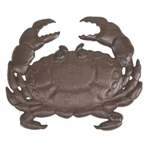 Coastal Rust Finish Cast Iron Dungeness Crab Stepping Stone Garden Decor