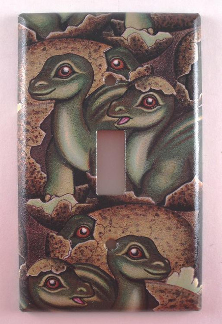 Baby Dinosaurs Childs Nursery Single Switch Plate Cover