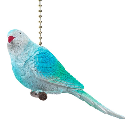 Baby Blue Parakeet Decorative Ceiling Fan Light Pull 3 Dimensional Clementine