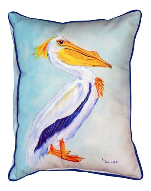 Coastal King Pelican 16 x 20 Inch Large Indoor Outdoor Pillow Betsy Drake Design