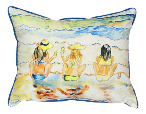 Beach Gals Bottoms Up Indoor Outdoor Pillow 16 X 20 Made in the USA
