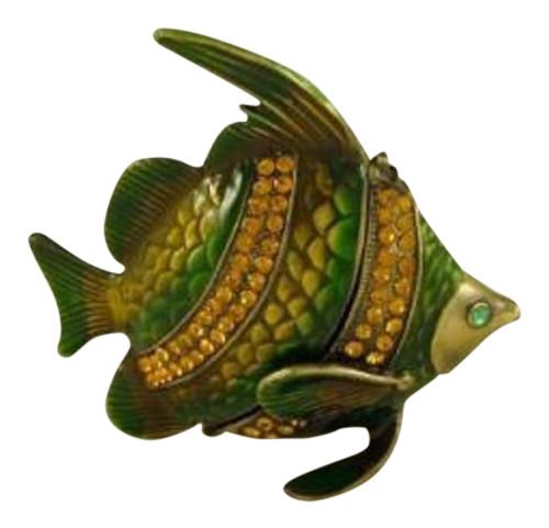 Tropical Angel Fish Faberge Inspired Jeweled Trinket Box