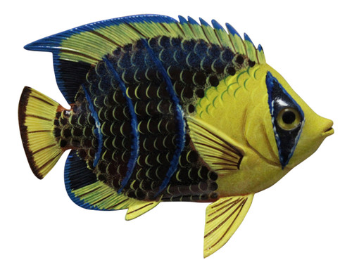Big 12 Inch Tropical Fish Tiki Sea Life Bath Wall Decor Yellow 12TFW41