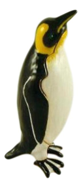 Emperor Penguin Faberge Inspired Jeweled Trinket Box
