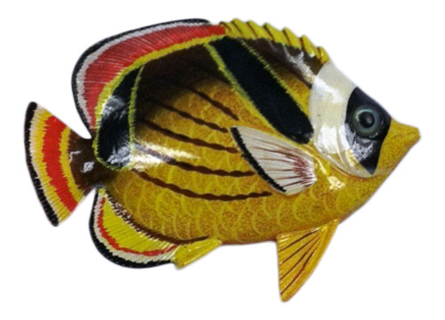 Big 12 Inch Striped Tropical Fish Red Fin Bath Childrens Wall Decor 12TFW84