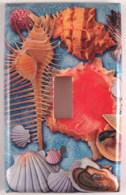 Beach Sea Shells Seashells Single Switch Plate Cover