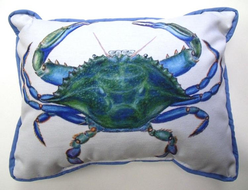 Chesapeake Bay MD Blue Crab Indoor Outdoor Pillow 11 X 11 Inch Throw Pillow