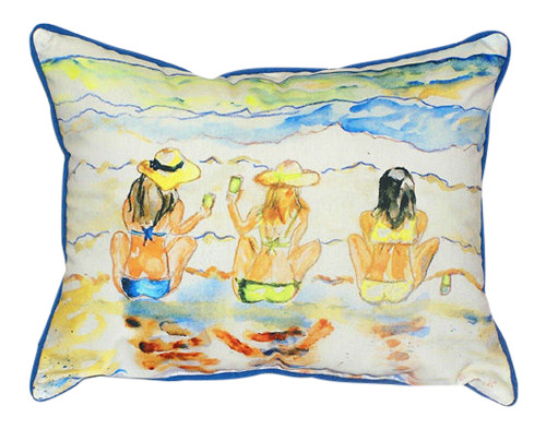 Beach Gals Bottoms Up Indoor Outdoor Pillow 14 X 11 Inch Made in the USA