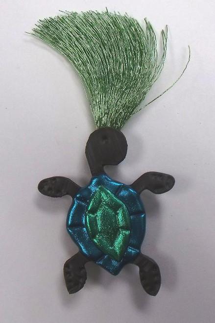 Nautical Green Sea Turtle Lover Wild Woman Pin