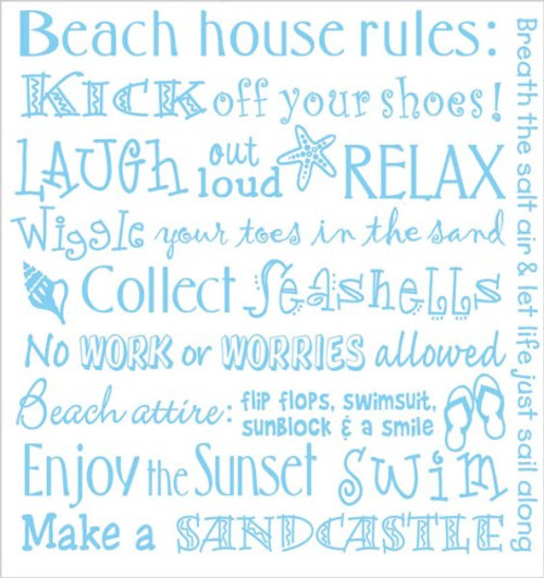 Beach House Rules Flour Sack Kitchen Dish Cotton 27 Inch Towel Kay Dee