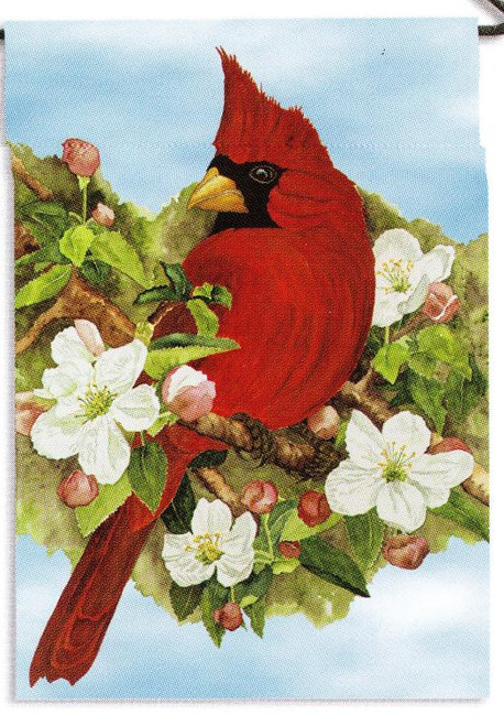 Blossoms and Blooms Red Cardinal Garden Flag Banner