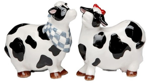 Country Cows Farm Milk Salt and Pepper Shakers