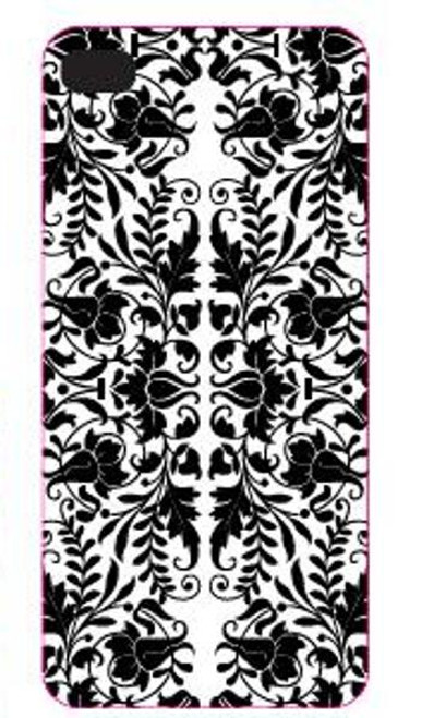 Black and White Bold Rococo Print iPhone® 5 Smartphone Phone Case Snap On Cover