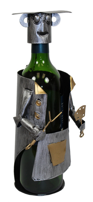 BBQ Barbecue Cook Chef Metal Wine Caddy Bottle Holder