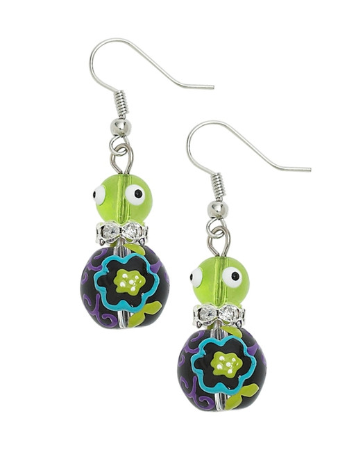 Little Flower Rhinestone Glass Beaded Kate and Macy Pierced Earrings Clementine