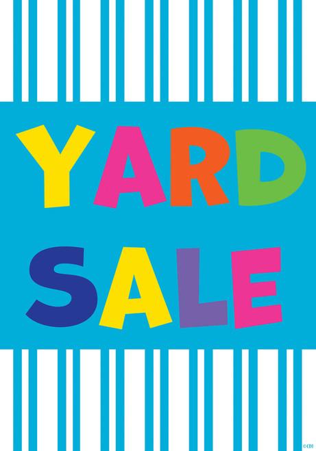 Bold Blue Stripes Yard Sale 12 X 18 Inch Double Sided Garden Flag Custom Decor