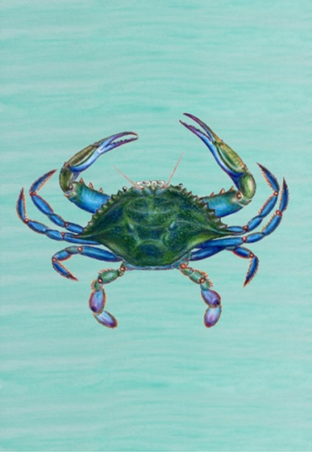 Coastal Male Maryland Blue Crab Standard Flag 40X28 Inches