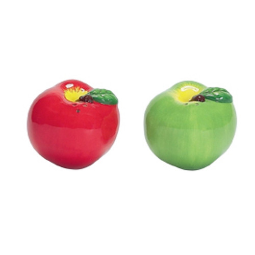 Apple Pickin Salt and Pepper Shakers Set Boston Warehouse