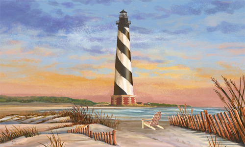 Coastal Hatteras Lighthouse Mat 30 X 18 Inch Floor Mat