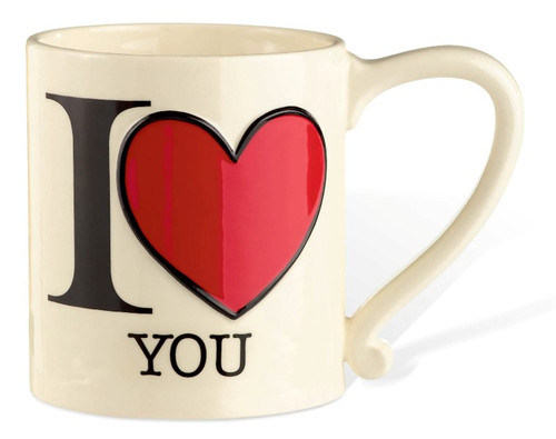 I Heart You Love Happy Ceramic Coffee Tea Latte Mug Grasslands Road