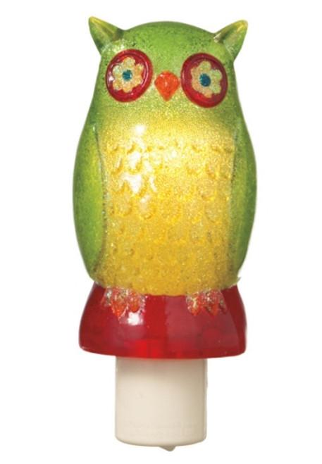 Whimsical Green Hoot Owl Night Light Midwest CBK