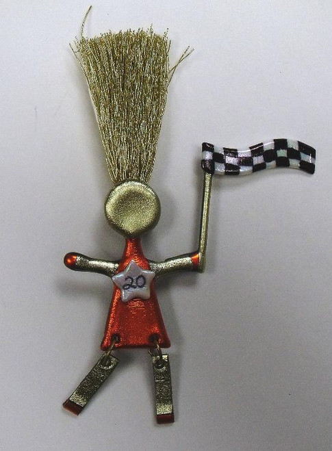 Racing Driver Number 20 Lover Wild Woman Pin