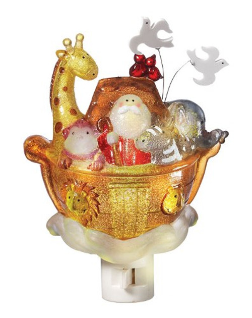 Whimsical Noah's Ark Filled With Animals Night Light Midwest CBK