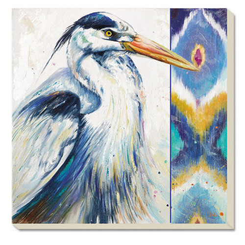 Blue Heron Chevron 4 Inch Square Absorbent Stone Coasters Set of 4