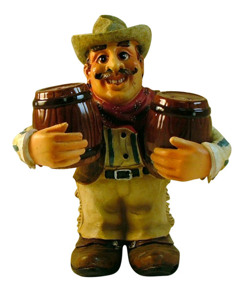 Country Cowboy Resin Salt and Pepper Shaker