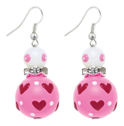 Love Birds Rhinestone Glass Beaded Kate and Macy Pierced Earrings Clementine