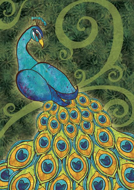 Colorful Pretty Peacock 18 X 12.5 Inches Garden Flag