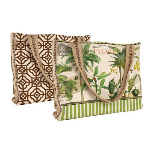 Palm Trees in Paradise Designer Tote 17 Inch Cotton Michel Design