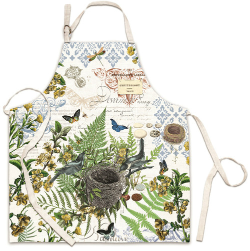 Birds Buildng a Nest Into the Woods Chef Apron Kitchen Cotton Print