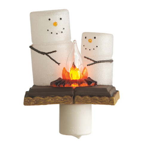 Smores Treats Around the Campfire Flicker Acrylic Electric Night Light