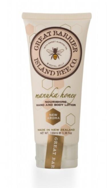 Vanilla Bee Nourishing Hand Body Lotion Tube 3.5 Ounces Great Barrier Island Bee