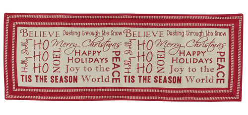 Believe Dashing Through Snow Tis The Season Holiday Table Runner 54 Inches