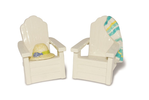 Adirondack Beach Chairs Salt and Pepper Shaker Set Ceramic