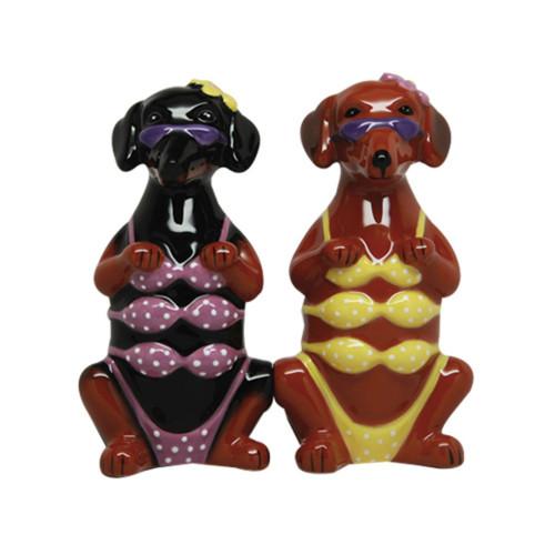 Bikini Hotties Doxie Doggie Girls Salt and Pepper Shaker Set