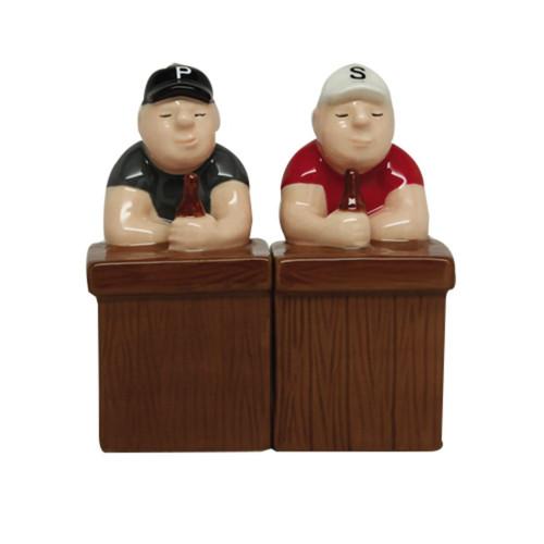 Beer Buddies Sitting at the Bar Salt and Pepper Shaker Set