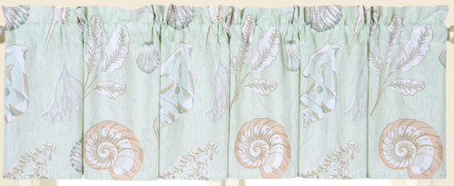 Breezy Shores Window Valance Printed Cotton 72 X 15.5 Inches