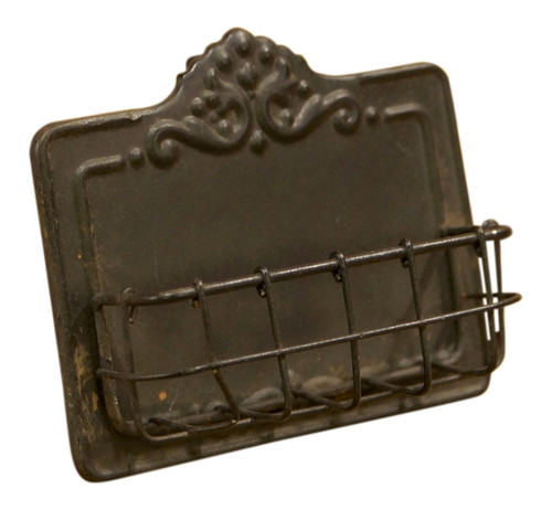 Antiqued Rustic Business Card Holder Metal 5 Inches