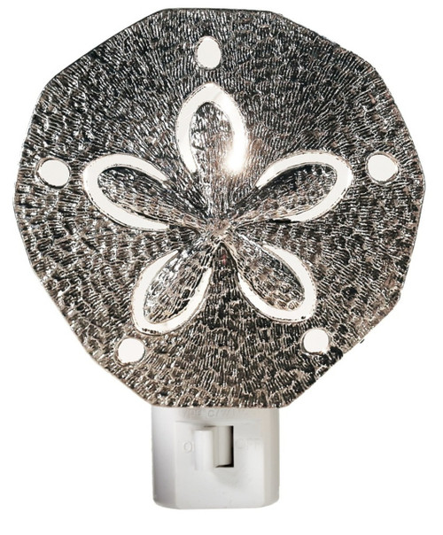 Silver Sand Dollar Electric LED Night Light