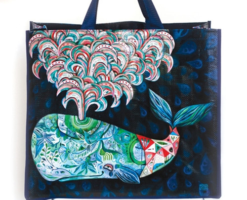 Spouting Whale of a Good Time Shopping Bag 17.75 Inches