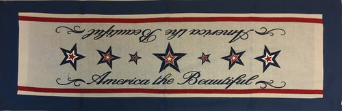 America the Beautiful Patriotic Stars Dining Table Runner 47 Inches